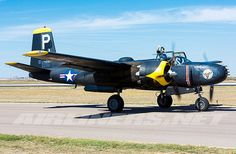A Douglas A-26B Invader painted in night low visibility colors.