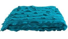 Kas Ripple Throw Peacock - FREE SHIPPING Australia-wide https://design-a-bedroom.com/