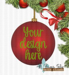 Christmas Ornament Mockup Photo - Red Christmas Ornament Mock-up Image by AllThingsJolie78 on Etsy https://www.etsy.com/listing/495241313/christmas-ornament-mockup-photo-red