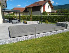 Fabrication d'une terrasse mobile en Suisse par Octavia Abris Piscines
