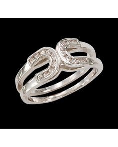 Montana Silversmiths Double Horseshoe Ring