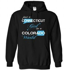 Just A Connecticut Girl In A Colorado World T Shirts, Hoodies. Check price ==► https://www.sunfrog.com/LifeStyle/-28CTJustXanh001-29-Just-A-Connecticut-Girl-In-A-Colorado-World-Black-Hoodie.html?41382