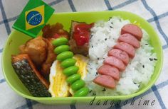 Every day and 1 of 3 people + princess dumpling  simple bento