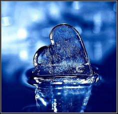 Icy Blue Heart Pin-a-way I Love Heart, My Love, Heart Pics, Photo Heart, Heart In Nature, Winter Typ, Love Blue, Something Blue, My Favorite Color