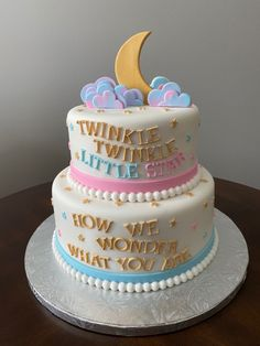 Star Baby Showers, Twinkle Twinkle Little Star, Twin Babies, Baby Shower Cakes, Bridal Shower, Birthday Cake, Desserts, Food, Cakes Baby Showers