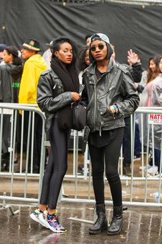 25 Outfits To Try This Spring, Courtesy Of SXSW #refinery29  http://www.refinery29.com/2015/03/84042/sxsw-2015-street-style-pictures#slide-17  The takeaway here is that we now know we need an oversized moto jacket to wear with leggings.