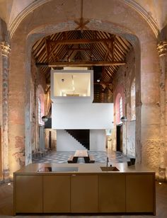 "keepingitneutral:  ""'De Waterhond' Chapel, Sint-Truiden Kantoorruimte by Klaarchitectuur,  Photography: Valerie Clarysse, Toon Grobet  """