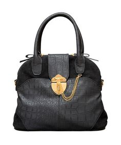 Take a look at this Elise Hope Crocodile Bowler Bag by Elise Hope on #zulily today!