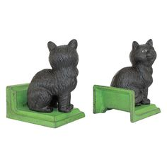 You'll love the 2 Piece Kitten Kibitzing Cat Cast Iron Sculptural Book End Set at Wayfair - Great Deals on all Décor  products with Free Shipping on most stuff, even the big stuff.