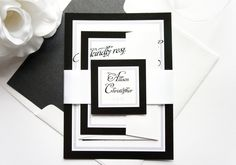 Colors can be customized to reflect your wedding for each design! Shown in Black & Gray and Antique & Gray. Ribbon and Ink colors available in every color on the color chart! Purchase a Sample How to