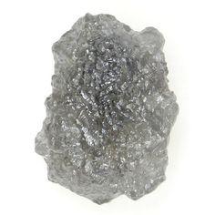 0.60 Ct 100 % Natural Rough Loose Opaque Clarity Silver Gray Color Diamond