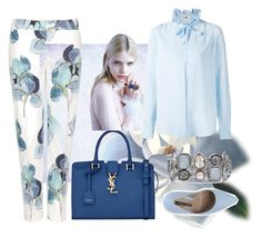 """""""Untitled #107"""" by jovana-p-com ❤ liked on Polyvore featuring Tory Burch, Yves Saint Laurent, MSGM, Norma J.Baker, Chico's, women's clothing, women's fashion, women, female and woman"""