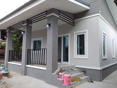 Home color 2 (fav) Modern Bungalow House Design, Modern House Facades, Duplex House Design, Simple House Design, House Front Design, Minimalist House Design, Beautiful House Plans, Village House Design, Home Building Design