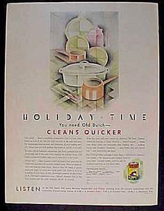 Old Dutch Cleanser Ad - 1931