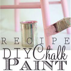 DIY Paint Recipe:  chalk paint    http://inmyownstyle.com