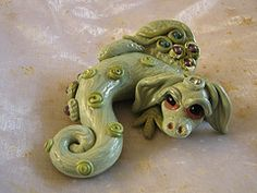 polymer clay dragon, mademerrily, fimo dragon, model dragon
