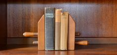 vintage wood furniture vice bookends - tell city furniture