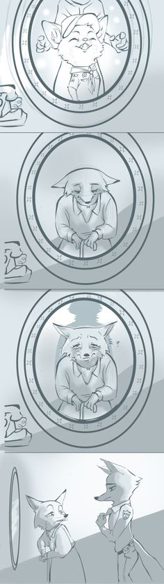 Zootopia,Зверополис, Zootopia characters,Nick Wilde and his mom Disney Pixar, Disney Memes, Disney And Dreamworks, Disney Cartoons, Disney Magic, Disney Art, Walt Disney, Funny Disney, Zootopia Comic