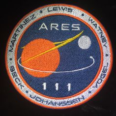The Martian by Andy Weir Patch by MajesticFashion on Etsy