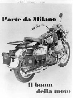 Moto Guzzi V7 California Locandina 1970-1972