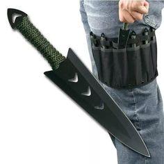 conjunto com 6 facas de arremesso. rc-040-6