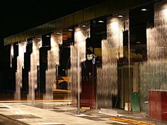 Digital Water Pavilion Turns Water into Walls of Art Kinetic Architecture, Water Architecture, Interior Architecture, Water Curtain, Pavilion Design, Water Walls, Step Inside, Fish Tank, Design Process