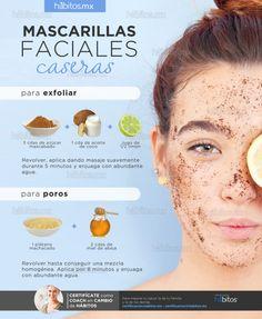 Mascarillas faciales caseras / Exfoliar y Poros