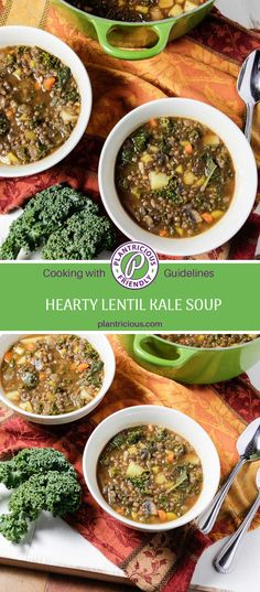 We like to get dinner on the table in a flash and this lentil kale soup is a perfect option. I'm loving the options for quick-cooked legumes. Enter the lentil! It's so versatile to use in recipes. Use them in soups, casseroles, salads, and even appetizers. Lentil Kale Soup, Lentils, Casseroles, Soups, Salads, Appetizers, Potatoes, Nutrition, Vegan
