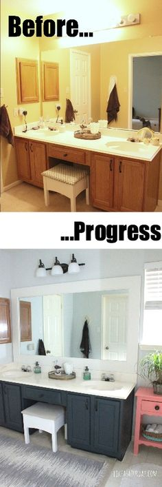 Master bath makeover progress... need to do this like woah!