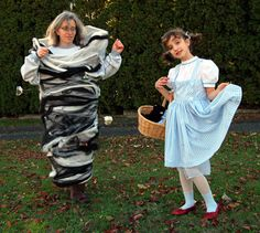Dorothy and the Tornado Matching Mother Daughter Halloween Costumes