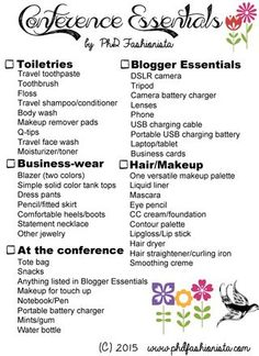 Packing List For A Four Day Business Trip  Business Travel