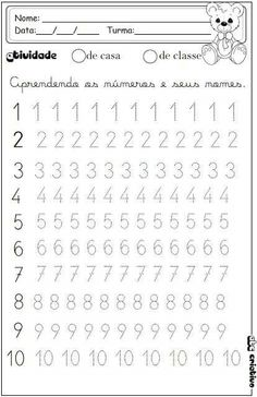 Printable Preschool Worksheets, Kindergarten Math Worksheets, Tracing Worksheets, Alphabet Worksheets, Worksheets For Kids, Shapes Worksheets, Alphabet Writing, Preschool Writing, Numbers Preschool