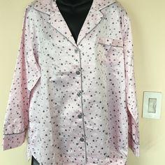 Pink pajama set Very cute pink color pajama set with gray and white hearts all over . Waist on pajama bottom is elasticize . Fabric is 83% polyester , 17% cotton . Carole hochman Intimates & Sleepwear Pajamas