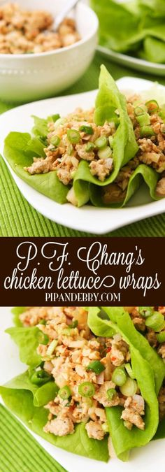This is a copycat version of P.F. Chang's famous Chicken Lettuce Wraps! The SKINNY version! But you would never know they are slimmed down because they are just as delicious.