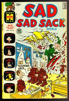 Sad Sad Sack World #35 * 25¢ Harvey Giant * Sarge * The General * Sadie Sack