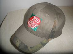 Bio Gene Seeds Gray and Camo Hat Cap with Velcro Strap K-Products One Size #KProducts #BaseballCap