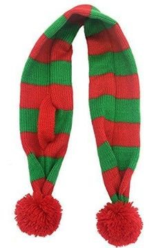 Striped Christmas Scarf for Small Dogs & Cats