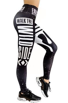 07a2a77c9b42 LIMITED Performance Mid Waisted Leggings - Walk the Dark Side