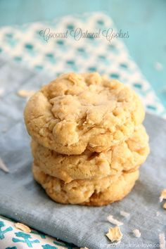 Perfect use for all the coconut in my apartment! - Coconut Oatmeal Cookies - Eat. Drink. Love.