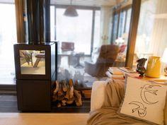 Caminetto a legna modulare con telecomando SPEETBOX BY STARCK by SPEETA design Philippe Starck