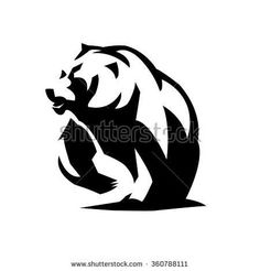 Find bear logo stock images in HD and millions of other royalty-free stock photos, illustrations and vectors in the Shutterstock collection. Thousands of new, high-quality pictures added every day. Bear Design, Logo Design, Graphic Design, Bear Stencil, Bear Claw Tattoo, Logo Outline, Tribal Animals, Bear Silhouette, Bear Drawing