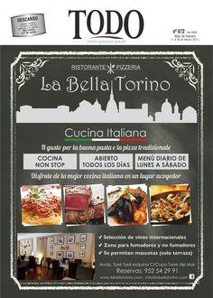 Mañana 1 de Febrero estará por los comercios la edición de Febrero de Revista Todo. En portada La Bella Torino.