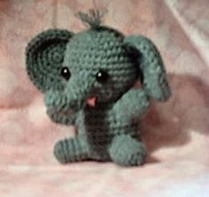 Alexander the Baby Elephant crochet pattern. Giving it a try.