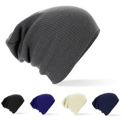 Winter Beanies Solid Color Unisex Plain Warm Soft Beanie Skull Knit Cap 7 Colors
