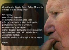 Oración del Beato Juan Pablo II para la Semana de Oración por la Unidad de los Cristianos
