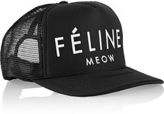 Brian Lichtenberg Féline embroidered neoprene and mesh cap on shopstyle.co.uk