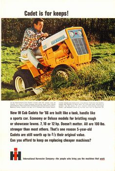 1966 IH Cub Cadet Lawn Tractor Advertisement National Geographic April 1966   by SenseiAlan
