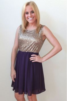 purple and gold sequin dress $49  www.herringstonesboutique.com