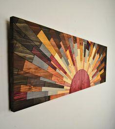 Arte de pared de madera la pared arte BORDE por StainsAndGrains