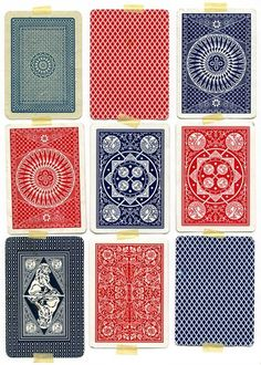 Back of Playing Cards-would be cool framed-vintage cards of course